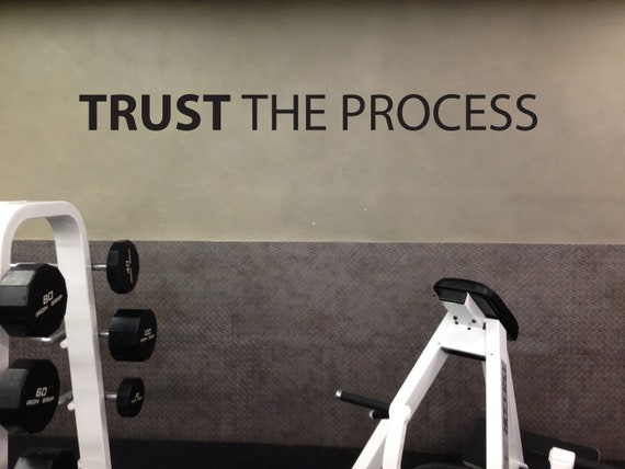 Physical Therapist Office Design, Gym Wall Decal, Classroom Decor, Office Wall Decal, TRUST THE PROCESS wall sticker