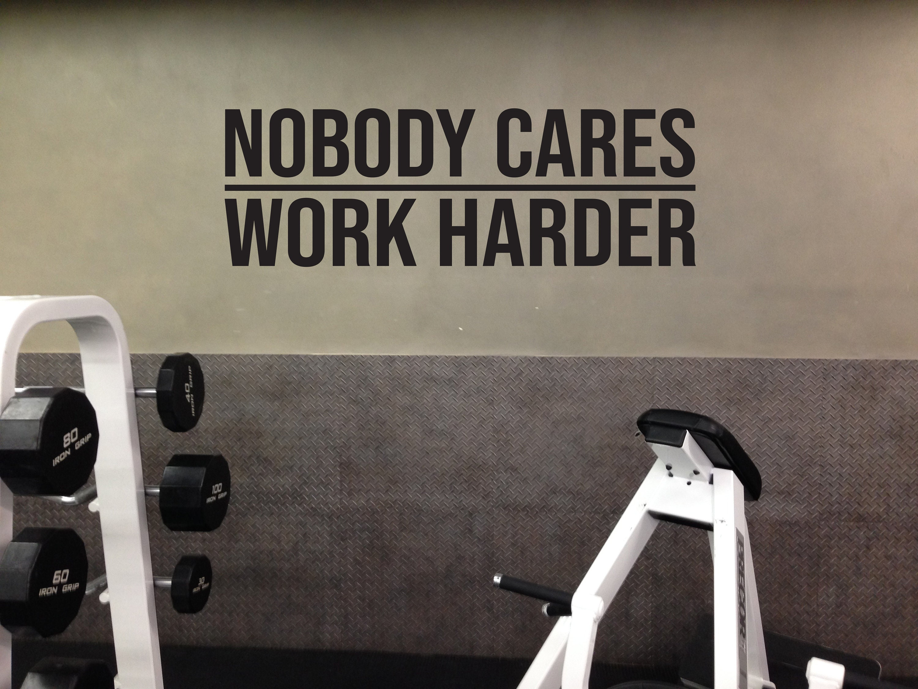 Nobody Cares Work Harder Wall Decal Gym Decor Ideas Gym Etsy,Peacock Themed Bedroom