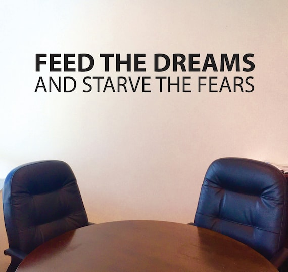 Fitness Wall Decal, Classroom Wall decor, FEED THE DREAMS and Starve the Fears