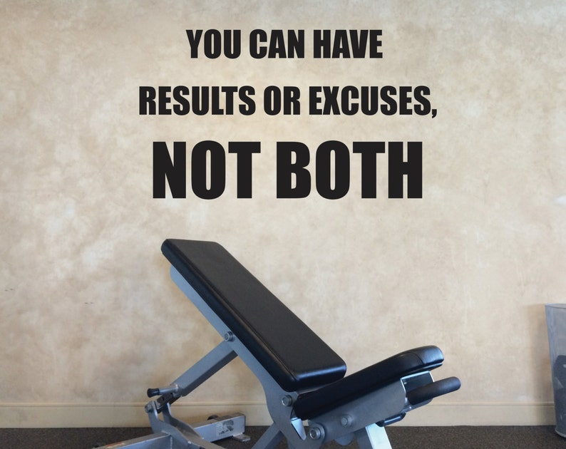 Fitness studio wall decor gym wall decal gym motivation etsy