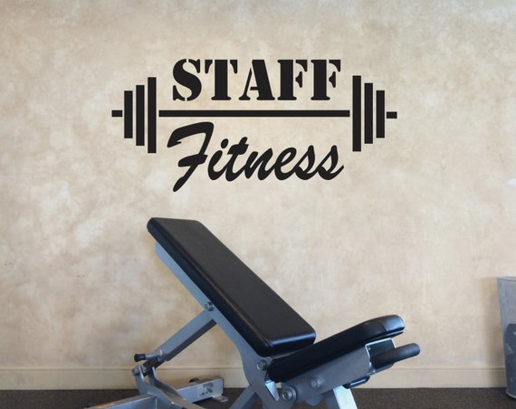 Fitness Wall Decal, Staff Fitness Wall Decal, Office Gym Decor, Teacher Gym