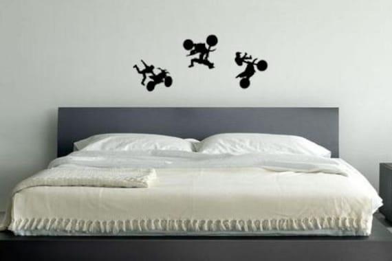 MotoCross, Motorcyle Vinyl Decal Wall Art, Kids room