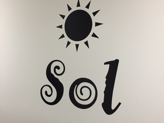 Tanning Salon Design Ideas, Summer Wall Decal. Tanning Sign, Sol Wall Decal