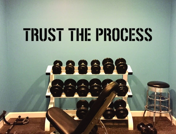 TRUST THE PROCESS Wall Decal, Office Wall Decal, Physical Therapist Wall Decal, Medical Wall Decal, Gym Wall Decal, Inspirational Quote
