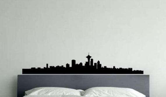 "Seattle City Skyline Wall Glass Vinyl Sticker Decal 12""x60"""