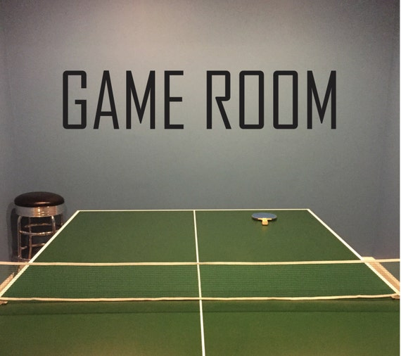Game Room Wall Decal. Recreation Room Basement Design Ideas