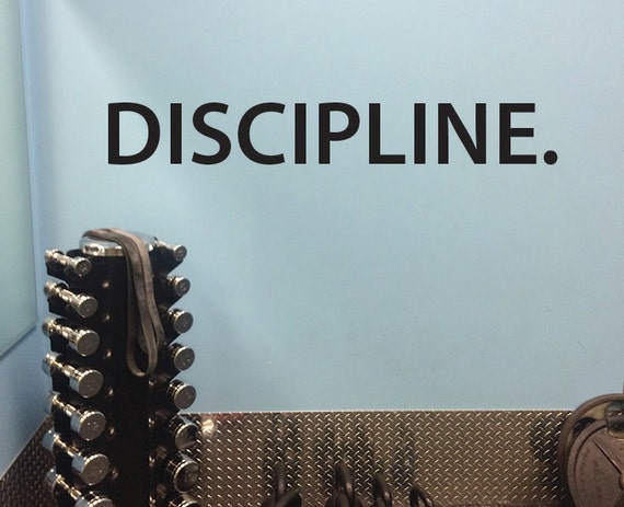 Gym Wall Decal, DISCIPLINE.