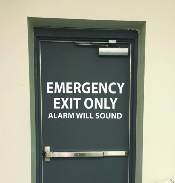 EMERGENCY EXIT ONLY door sign, Fire Exit Door Sign, Building Door Sign, Business Door Sign