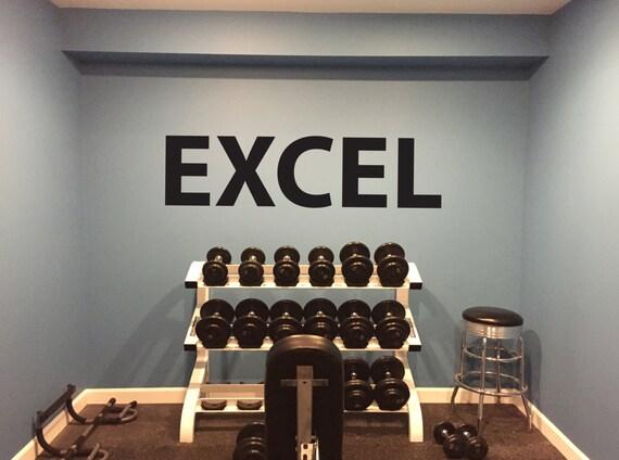 Basement Gym Ideas. EXCEL Gym Wall Decal