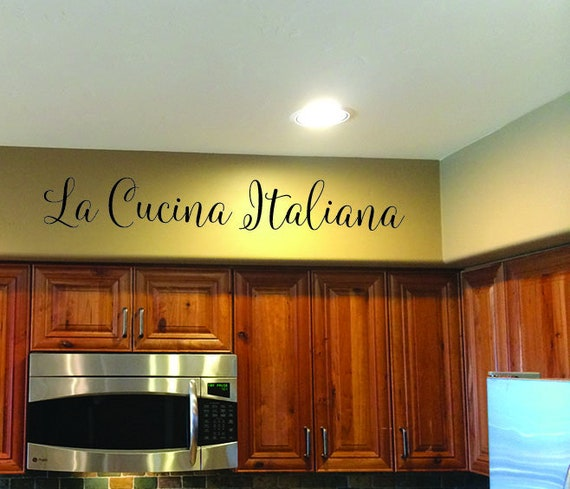 La Cucina Italiana, Wall Decal, Kitchen Wall Decal, Kitchen Decor