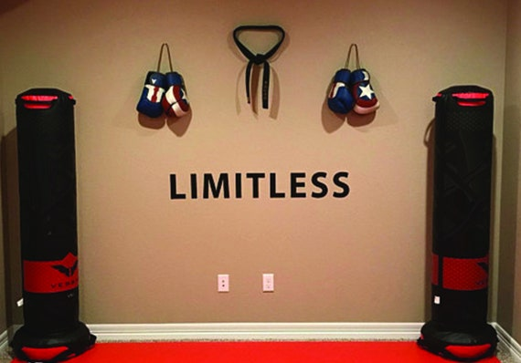 LIMITLESS Wall Decal, Classroom Sign, Gym Sign, Gym Design Ideas, Weight Room Sign, Weight Room Design Ideas