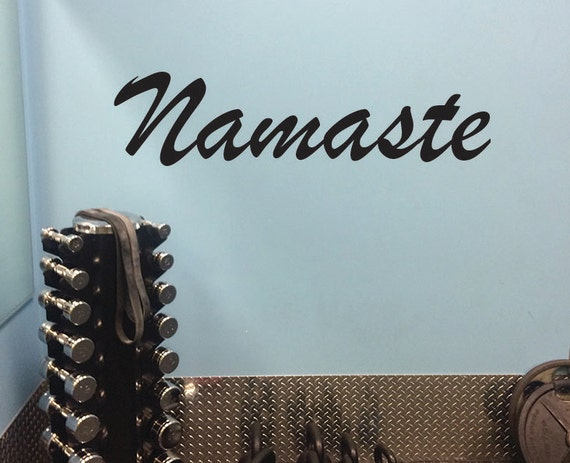 Yoga Gift, Namaste Yoga Wall Decal.