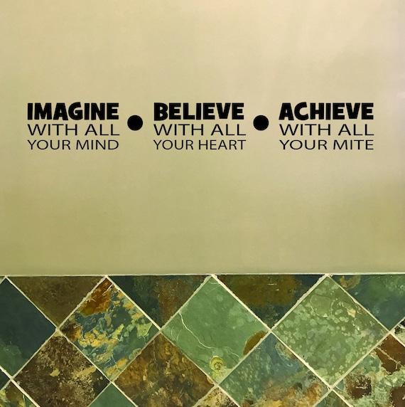 Classroom Ideas, Classroom Decor, Teacher Class Decor, IMAGINE BELIEVE ACHIEVE