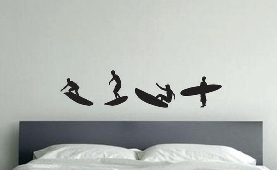Surfer Wall Sticker Decor, Vinyl Wall Art Decal