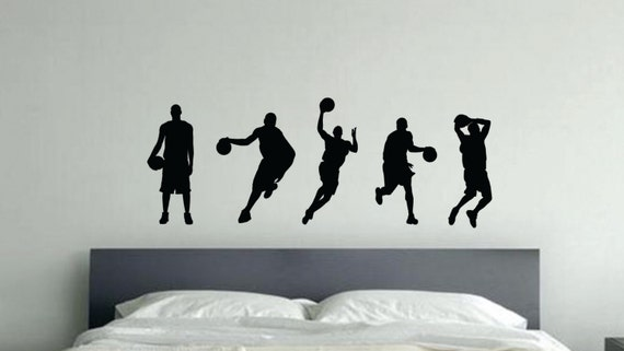 Kids Basketball Decor, 5 Basketball Characters, item #65