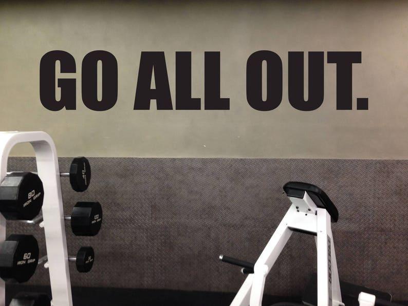 Weight room wall decor gym layout ideas gym wall sticker etsy