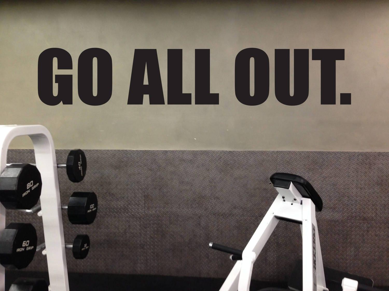 Weight room wall decor gym layout ideas gym wall sticker go all