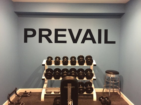 Basement Gym Ideas. PREVAIL Gym Wall Decal