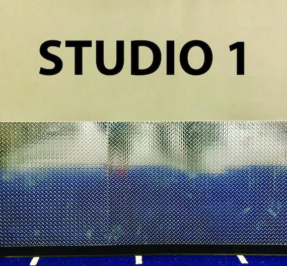 Fitness Studio Classroom Decor, Studio Sign, Gym Sign, Classroom Sign. STUDIO 1