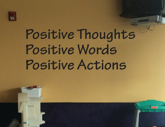 Classroom Wall Decoration, Positive Thoughts Positive Words Positive Actions Wall Decal
