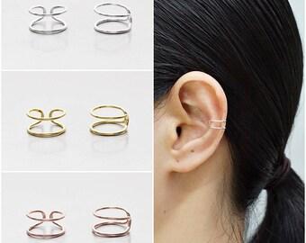 eebacf9f7 925 Sterling Silver Earrings, Ear Cuff Earring, Gold Plated Earrings, Rose  Gold Plated Earrings (Code : E72B)