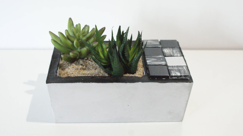 einzigartige beton pflanzer /industrial saftiges pflanzgefäß / | etsy