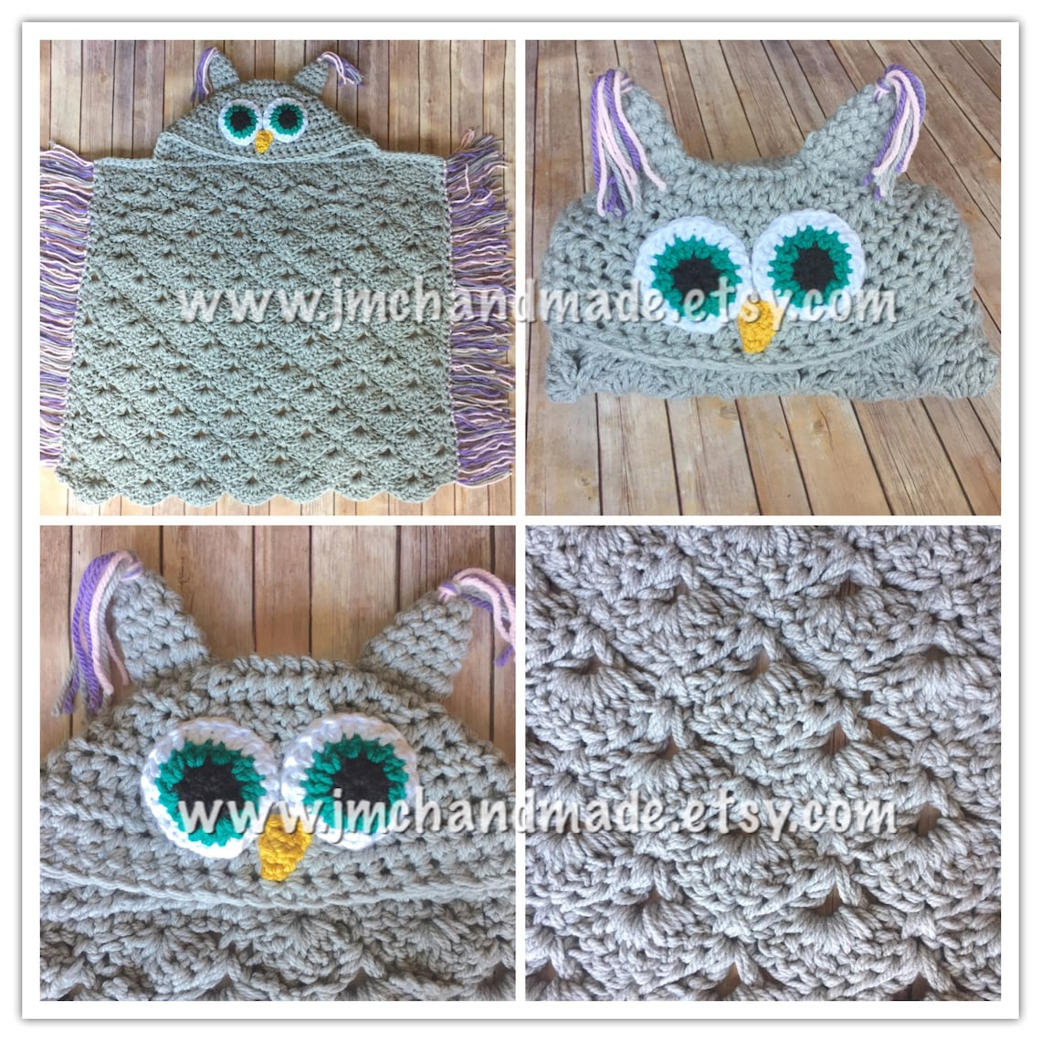 Crochet Owl Blanket Owl Hooded Blanket Adult Owl Blanket Etsy
