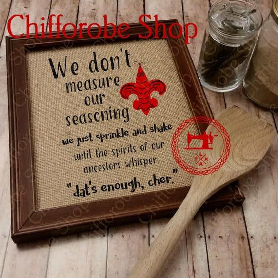 We dont measure our seasoning print cajun seasoning etsy image 0 stopboris Images