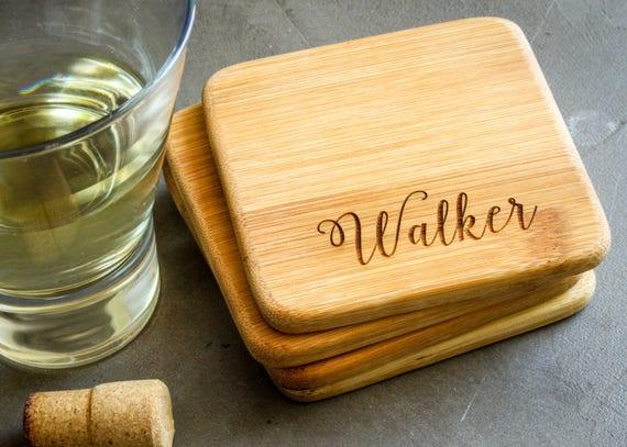 Personalized Coasters Wedding Gift: Personalized Coaster Set Custom Coasters Personalized