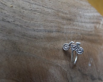 Ear Cuff Sterling Silver Vintage Bicycle