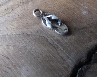 Flip Flop Charm Sterling Silver