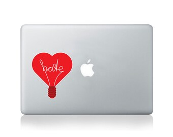 Light Hearted Vinyl Sticker for Macbook (13/15) or Laptop by Thomas Fuchs