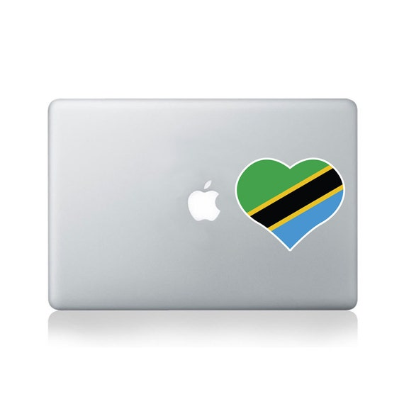 Pvc Windows Tanzania : Heart shaped national flag of tanzania vinyl sticker for