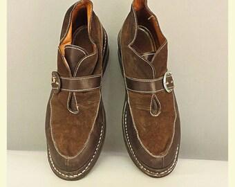 Chaussures femme des années 1940 Vintage marron Taille EU cuir suede 36 37.  50 ... 97b6d2aaf53c