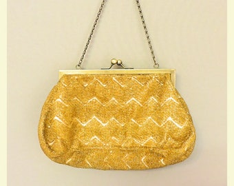 Vintage 20s/30s style old Gold Purse