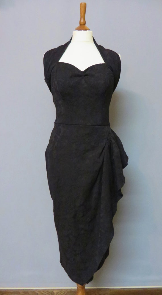 40s/50s Repro Black Sarong dress and bolero M