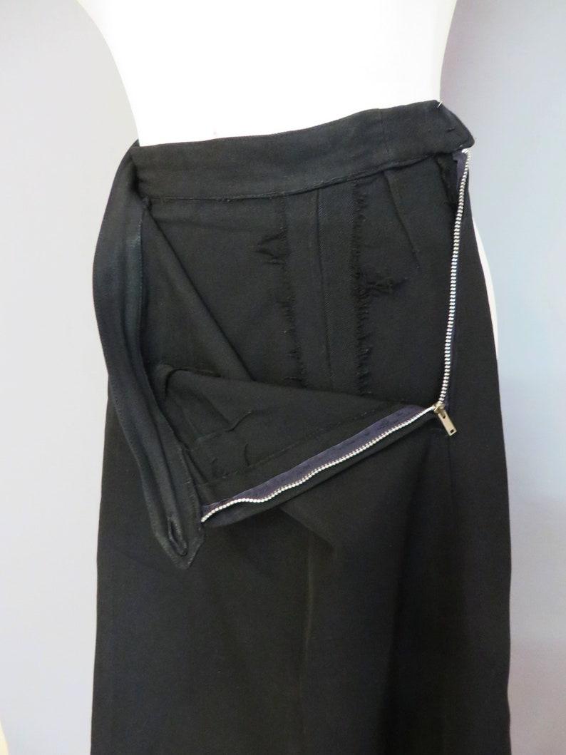 SM Vintage 40s50s Black gabardine woman suit