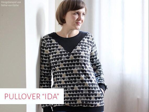 Schnittmuster Pullover Ida Gr. 34 48 | Etsy