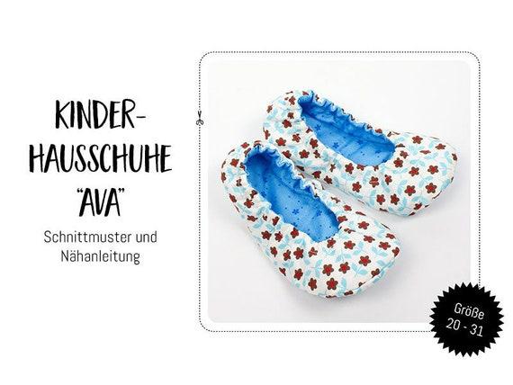 """Schnittmuster Ebook: Kinder Hausschuhe """"Ava"""""""