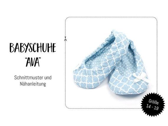 Schnittmuster-Ebook: Babyschuhe Ava Gr. 14 19 | Etsy