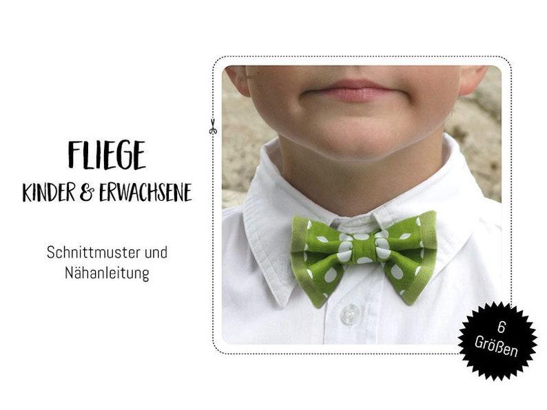 Schnittmuster Fliege Babies Kinder & Erwachsene image 0