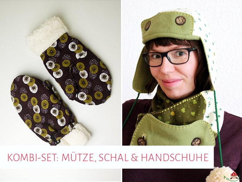 Combination set Winter: cap Scarf & Gloves image 0