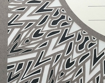Papercut Ketubah Sunburst - Shades of Gray