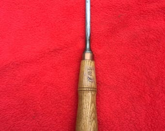 Buck Brothers 1/4 inch number 7 sweep Carving Gouge. Mass Made