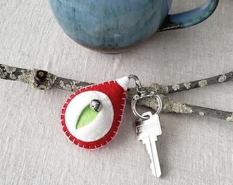 Vagina keychain, vulva keyfob, vag key, lesbian keyring, feminist totem, midwifery gift, doula thank you, obgyn key minder {pink}