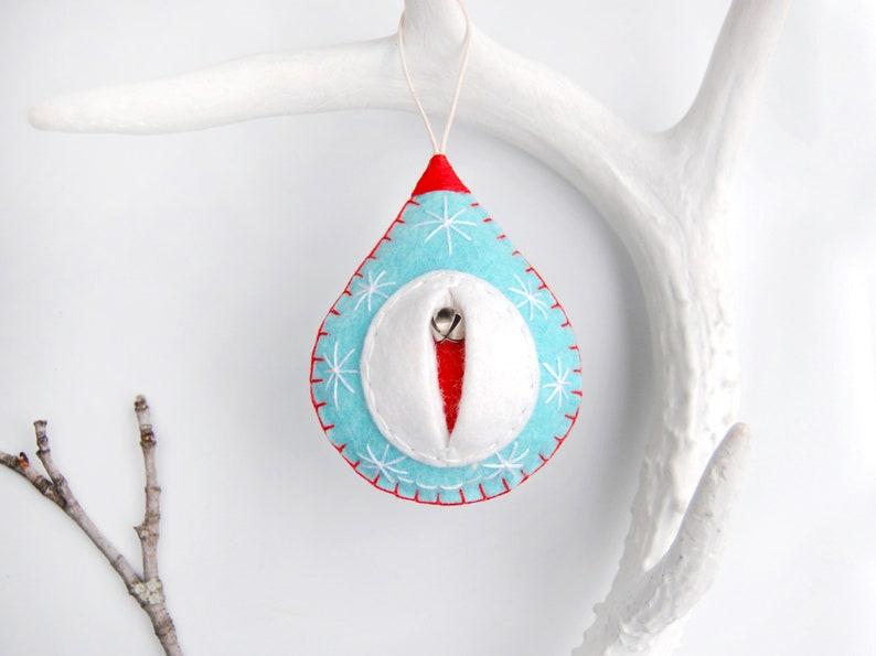 Vaginament® Tove the aqua blue snowy Christmas tree vulva image 0