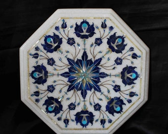 Italiaans Poolse Woonkamer : Salontafel top wit marmer antieke italiaanse inlay floral etsy