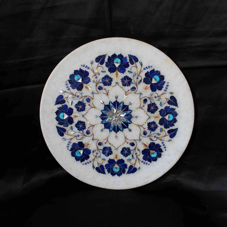 Christmas Gifts Decorative Marble Plate Taj Mahal Inlaid