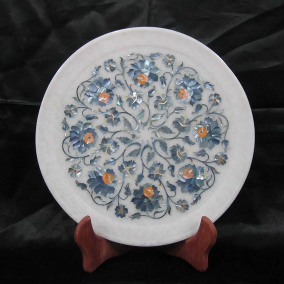 Wall Plates Antique Marble Inlay Art Home Decorative