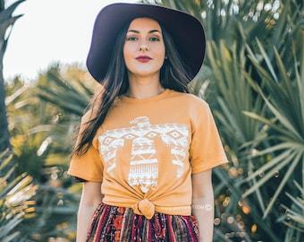 1e5b4137f Aztec Thunderbird T-Shirt-Mommy and Me Tees-Women Graphic Tee-Women Boho  Tshirt-Native American Shirt-Free Spirits Tee-Bohemian Aztec T-Bird